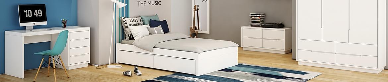 ענק מיטות נוער - מיטה וחצי מעץ מלא - גזע עץ FS-98