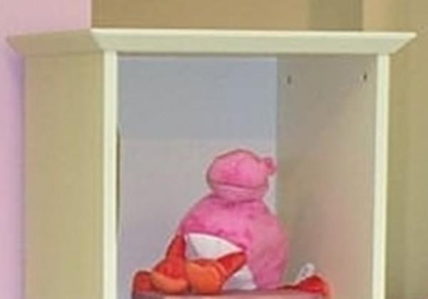 כוורת עומדת לחדר ילדים עם 4 תאים ומגירת בלגן עליון פזה