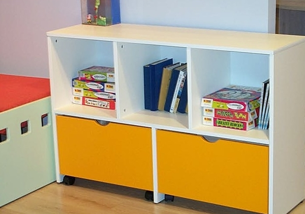 כוורת לחדר ילדים עם 5 תאים שתי מגירות
